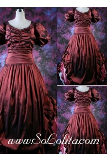 Gothic Victorian Vintage Red Luxuriant Lolita Dress