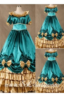 Gothic Victorian Super Gorgeous Blue Lolita Dress