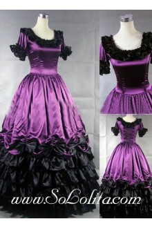 Gothic Victorian Noble Ornate Purple Lolita Dress