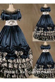 Gothic Victorian Super Gorgeous Navy Blue Lolita Dress
