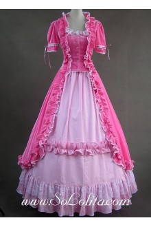 Gothic Victorian cotton Sweet Pink Lolita Dress