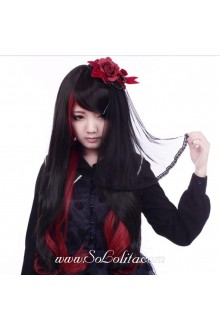 Red Black Long Changing Shape Sweet Roleplay Lolita Wig