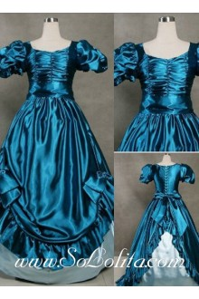 Gothic Victorian Graceful Vintage Blue Lolita Dress