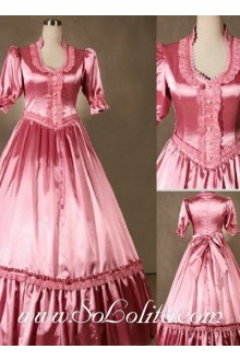 Gothic Victorian Sweet Pink Gorgeous Long Lolita Dress