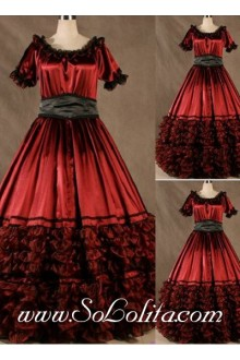 Gothic Victorian Super Gorgeous Red Aristocrat Lolita Dress