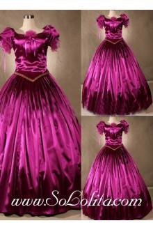 Gothic Victorian Luxuriant Bright Fuchsia Exquisite Lolita Dress