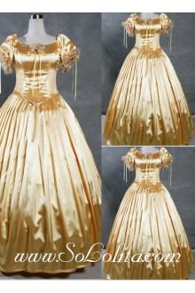 Gothic Victorian Luxuriant Bright Golden Exquisite Lolita Dress