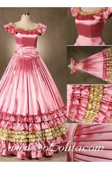 Gothic Victorian High Quality Fancy Pink Lolita Dress