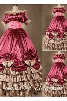 Gothic Victorian Super Luxuriant Elegant Pink Lolita Dress
