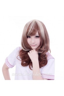Brown White Mixed Sweet Roleplay Lolita Wig