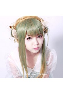 Grass Green Light Brown Mixed Sen Department Sweet Roleplay Lolita Wig