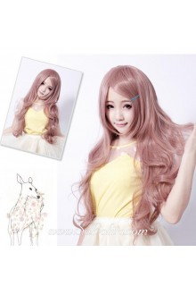 Girl Curl Long Light Brown Sweet Roleplay Lolita Wig