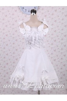 Bowties Halter Crossing Ribbon Corset Sweet Lolita Dress