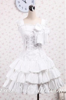 Bowtie Lace Ribbon Corset Multi-Layer Sweet Lolita Dress