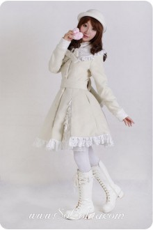 Sweet White Lace Decoration White Lolita Coat