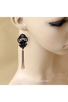 Lolita Lovely Fashion Lace Winter Story Tassel Earring