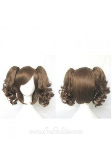 Lolita Wig Curl Dark Brown Short