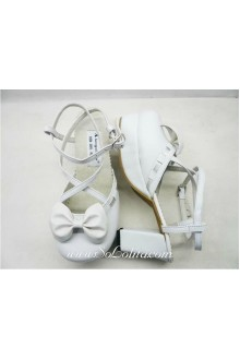 White Princess PU Sweet Lolita Shoes