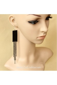 Lolita Black Fashion Sexy Long Tassel Earring