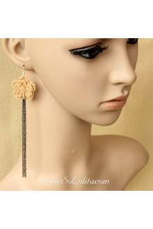 Lolita Sweety Fashion Flower Long Tassel Lady Earring
