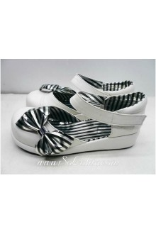 Princess White Stripes PU Sweet Lolita Shoes