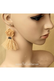 Lolita Fashion Retro Flower Tassel Ladies Earring