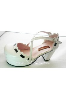 White Queen PU Sweet Lolita Shoes