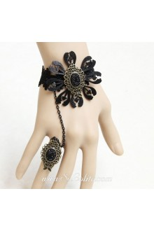 Original Handmade Fashion Black Lace Flower Lolita Bracelet