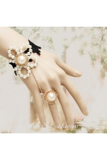 Artificial pearl Flower Fashion Lace Lolita Bracelet