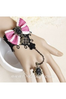 Fashion lady Lace Bow Peach blossomVintage Lolita Bracelet