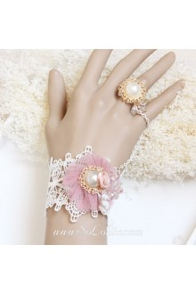 Original Flower Artificial Pearl Princess Lace Lolita Bracelet
