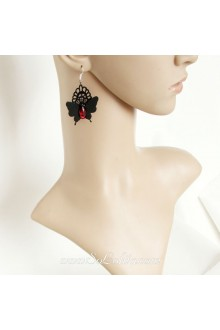 Lolita Fashion Original handmade Hell Butterfly Lace Earring