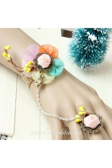 Little Fresh Vintage Creative Flower Rabbit Lolita Bracelet