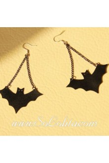 Lolita Fashion Original Retro Punk Bat Earring