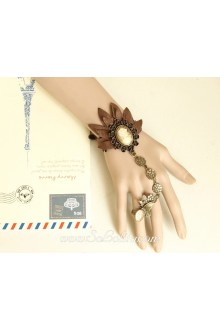 Fashion Beauty Head Brown Lace Lolita Bracelet
