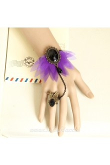 Flower Butterfly Black Diamond Fashion Lolita Bracelet