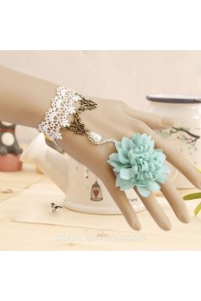 Sen Department Little Fresh Flower White Lace Pearl Lolita Bracelet