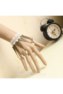 Vintage Lace Pearl Triangle Alloy Fitting Accessory Lolita Bracelet