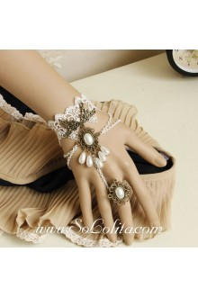 Vintage White Lace Palace Luxury Lolita Bracelet