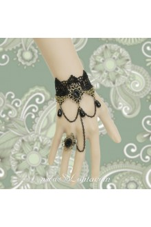 Vintage Stars Love Lace Hot Sale Black Lolita Bracelet