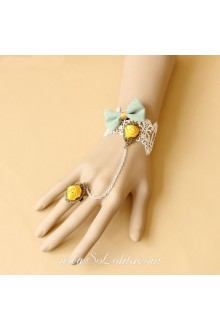 Sweet Princess Flower Bow Detailing Lace Lolita Bracelet