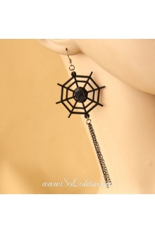 Lolita Fashion Personality Pearl Cobwebs Earring