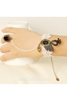 Black Swan White Lace Fashion HotSale Lolita Bracelet