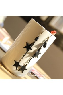 Lolita Pop Personality Black Star Earring