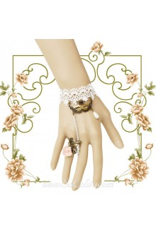Masked Queen White Lace Ball Accessory Lolita Bracelet