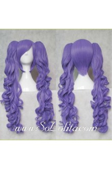 Lolita Wig Curl Sweet Purple Short