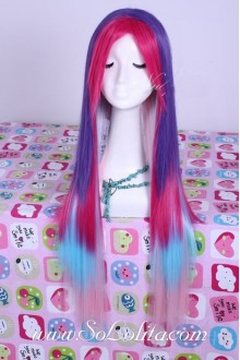 Sweet Girl Punk Colorful Long Straight Lolita Cosplay Wig