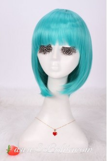 Lady Gaga Green Short Bobo Nifty Lolita Cute Cosplay Wig