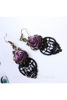 Lolita Lace Rose Pop Fashion Earring