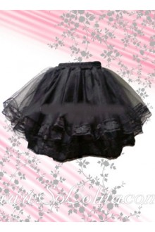 Black Puff Layers Cotton Lolita Skirt